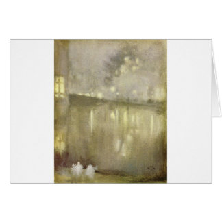 Nocturne Grey and Gold - Canal by James McNeill Card