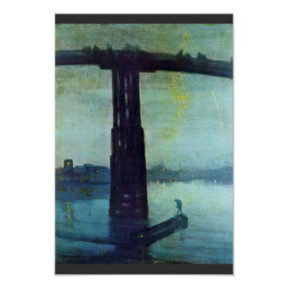 Nocturne In Blue And Gold: Old Battersea Bridge By Poster