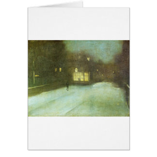 Nocturne in Grey and Gold: Chelsea Snow by James Card