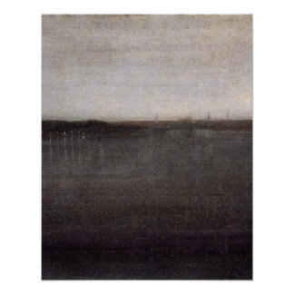 Nocturne in Grey by James Abbott McNeill Whistler Poster