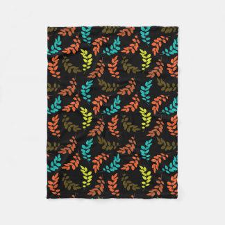 Nocturne of Leaves Fleece Blanket