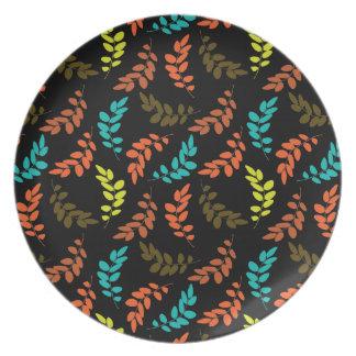 Nocturne of Leaves Melamine Plate