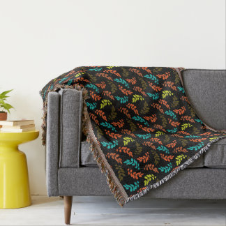 Nocturne of Leaves Throw Blanket