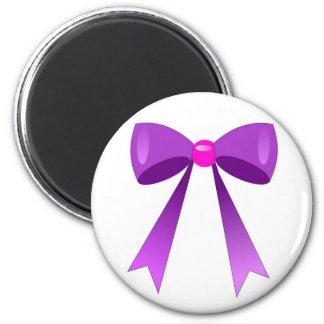 node purple 6 cm round magnet