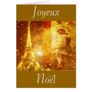 Noel a Paris collage Card