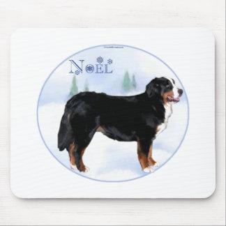 Noel Bernese Mountain Dog Mouse Pad