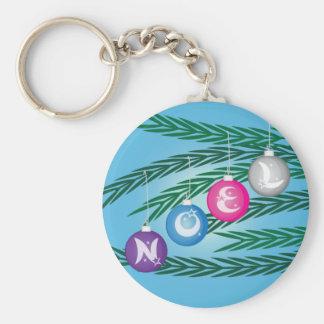 Noel Bulbs Key Ring