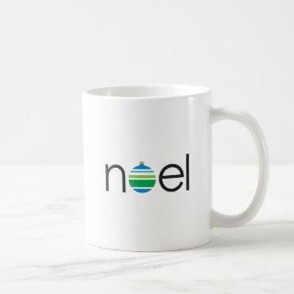 """noel"" Christmas Holiday Ornament Greeting Coffee Mug"