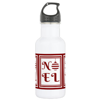 NOEL Christmas Holiday Red And White 532 Ml Water Bottle
