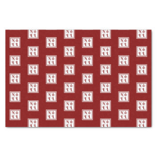 NOEL Christmas Holiday Red And White Pattern Tissue Paper