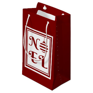NOEL Christmas Holiday Red And White Small Gift Bag