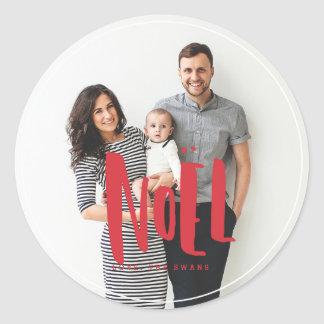 Noel Family Photo Sticker
