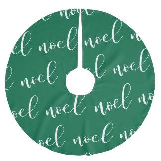 Noel   Green Christmas Script Brushed Polyester Tree Skirt