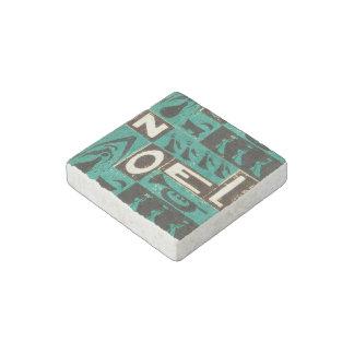 Noel Green Stone Magnet