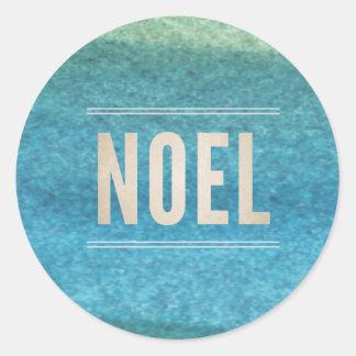 NOEL & Hand painted watercolor sticker