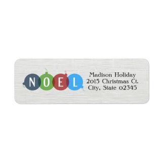 Noel Holiday Return Address Label
