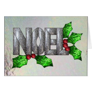Noel in Stained Glass Greeting Card