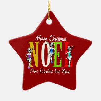 NOEL Las Vegas Christmas Showgirls Ornament