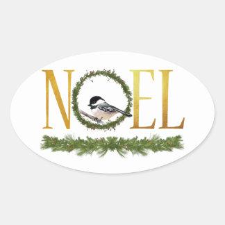 Noel Oval Sticker