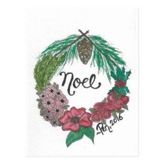 Noel postcard - Pen Connor 2016 (watercolor & ink)