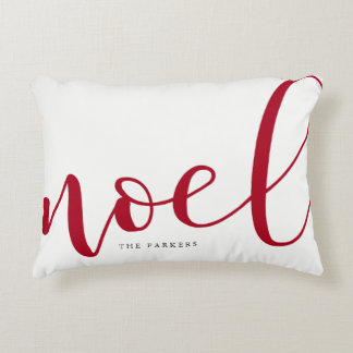 Noel | Red and White Christmas Decorative Cushion