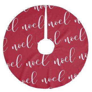 Noel   Red Christmas Script Brushed Polyester Tree Skirt