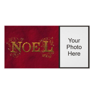 Noel Red Holiday Photo Card