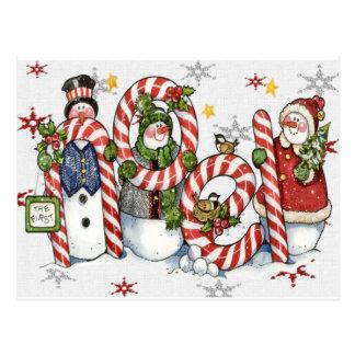 noel snowmen card