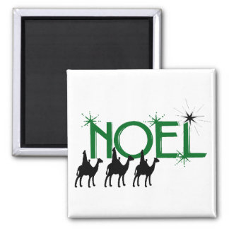 Noel three wise men go to Bethlehem gifts Magnets