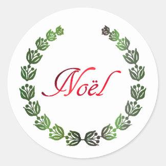 Noel Wreath Christmas Stickers