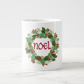 Noel Wreath   Christmas Wreath Large Coffee Mug