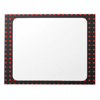 noir à pois rouge note pads
