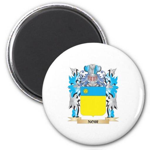 Noir Coat of Arms - Family Crest Fridge Magnet