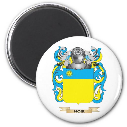 Noir Coat of Arms (Family Crest) Refrigerator Magnet