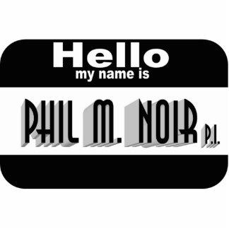 Noir Name Tag (pin) Photo Sculpture Badge