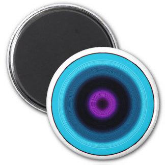 noir pink 6 cm round magnet