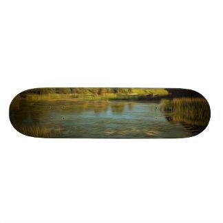 Noir view of a lake 20.6 cm skateboard deck
