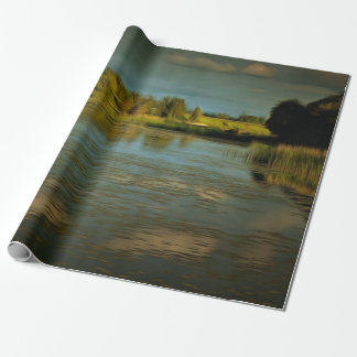 Noir view of a lake wrapping paper