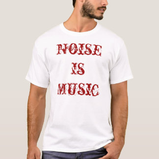 Noise Is Music Red T-Shirt