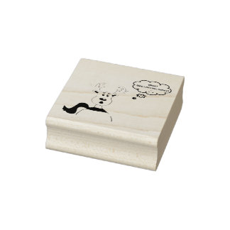 Noisey Rudolph Design Rubber Stamp