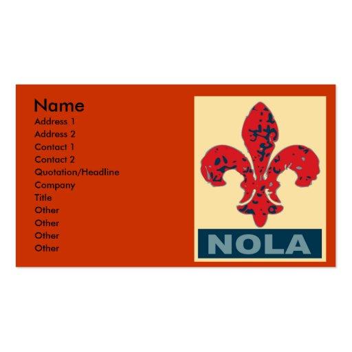 NOLA Fleur De Lis Business Card Templates