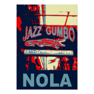 NOLA Jazz and Gumbo Poster