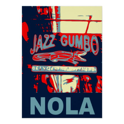 NOLA Jazz and Gumbo Print   Zazzle
