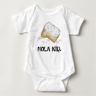 NOLA KID New Orleans Louisiana Beignet Foodie Gift Baby Bodysuit