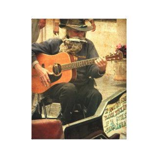 """NOLA Music Man - Vintage"" Wrapped Canvas"