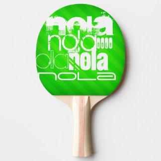 NOLA; Neon Green Stripes Ping Pong Paddle