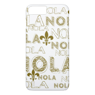 NOLA NOLA NOLA Gold Fleur-de-lis iPhone 8 Plus/7 Plus Case