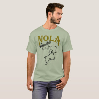 NOLA Skeleton with Horn T-Shirt