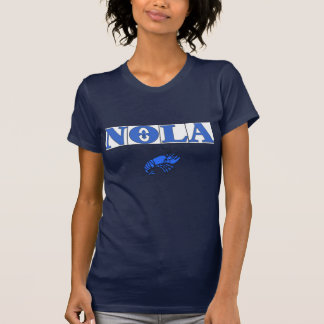 NOLA TIles Fleur, Blue Tiles Crawfish T-Shirt