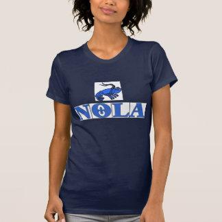 NOLA TIles Fleur, Blue Tiles Crawfish T-Shirt